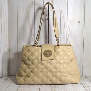 Kate Spade Elena Astor Court Beige Leather Satchel